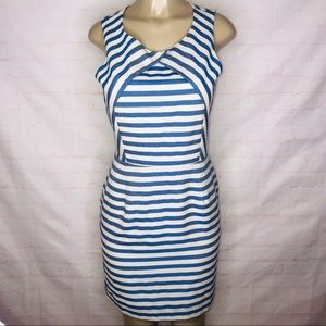 Anthropologie Hutch Blue and white  stripe dress
